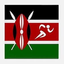 Team Track Kenya Tile Coaster