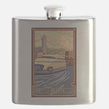 Seattle, Washington - Kalakala Ferry Flask