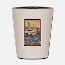 Seattle, Washington - Kalakala Ferry Shot Glass