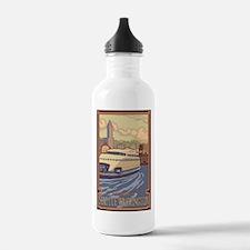 Seattle, Washington - Kalakala Ferry Water Bottle