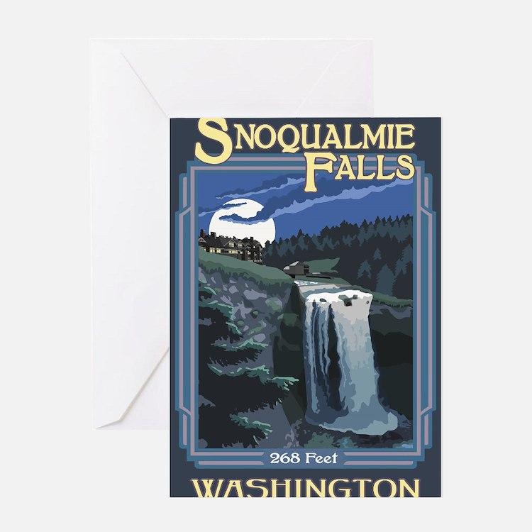 Snoqualmie Falls, Washington Greeting Cards