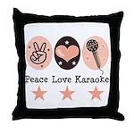 Peace Love Karaoke Throw Pillow
