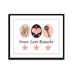 Peace Love Karaoke Framed Panel Print