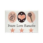 Peace Love Karaoke Rectangle Magnet