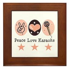 Peace Love Karaoke Framed Tile