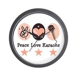 Peace Love Karaoke Wall Clock