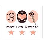 Peace Love Karaoke Small Poster