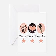Peace Love Karaoke Greeting Card