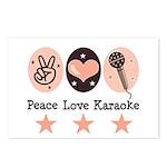 Peace Love Karaoke Postcards (Package of 8)