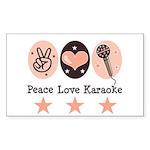 Peace Love Karaoke Rectangle Sticker
