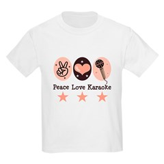Peace Love Karaoke Kids Light T-Shirt
