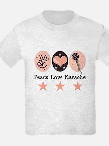 Peace Love Karaoke T-Shirt