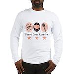 Peace Love Karaoke Long Sleeve T-Shirt