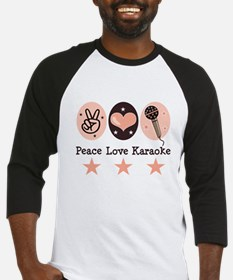 Peace Love Karaoke Baseball Jersey