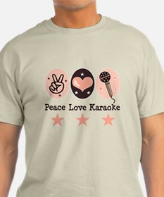 Peace Love Karaoke T-Shirt