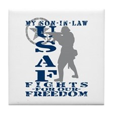 Son-in-Law Fights Freedom - USAF Tile Coaster
