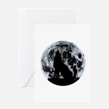 Wolf And Moon Greeting Cards