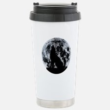 Wolf And Moon Travel Mug