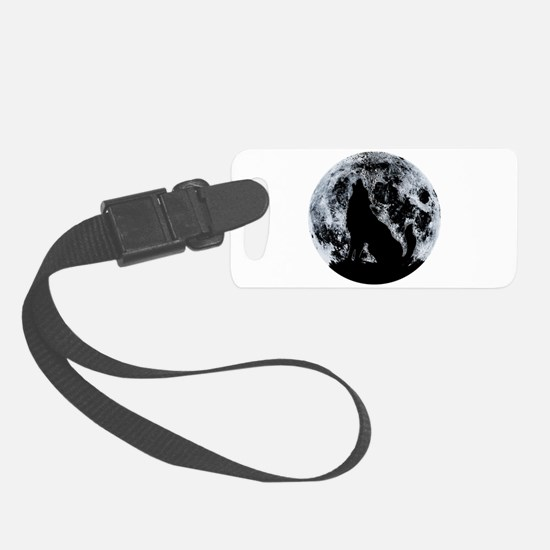 Wolf And Moon Luggage Tag