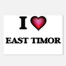 I love East Timor Postcards (Package of 8)