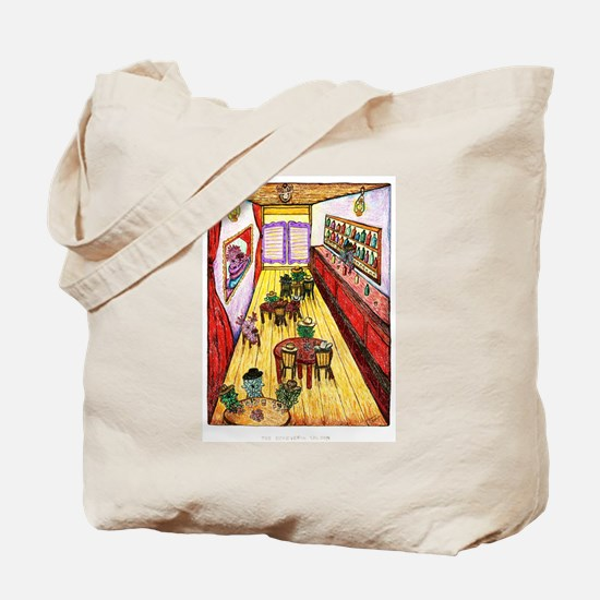The Echeveria Succulent Saloon Tote Bag
