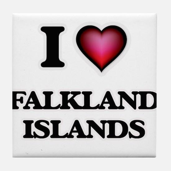 I love Falkland Islands Tile Coaster