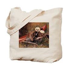 """Paul Helleu Sketching With His Wife"" - Tote Bag"