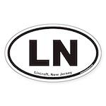 Lincroft New Jersey LN Euro Oval Sticker