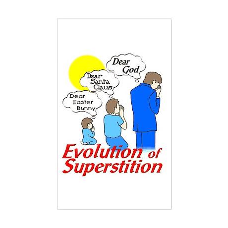 Evolution of Superstition Rectangle Sticker