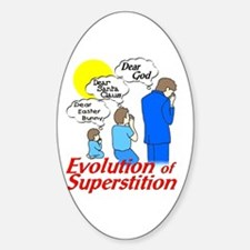Evolution of Superstition Oval Decal