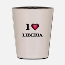I love Liberia Shot Glass