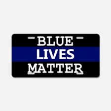 Blue Lives Matter Blue Stri Aluminum License Plate