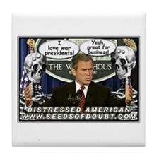 War Presidents Tile Coaster