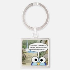 Cute Hilarious Square Keychain