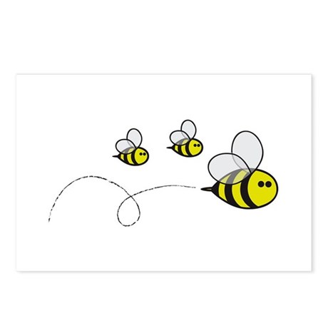 Bees!! Postcards (Package of 8)