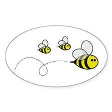 Bees!! Oval Decal