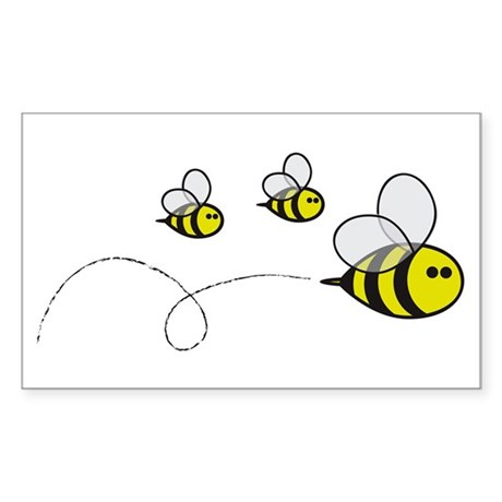Bees!! Rectangle Sticker