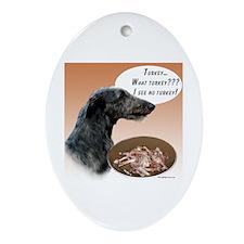 Deerhound Turkey Oval Ornament