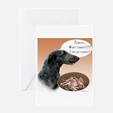 Deerhound Turkey Greeting Card