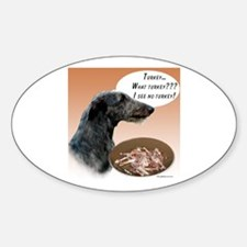Deerhound Turkey Oval Decal