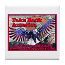 Take Back America Tile Coaster