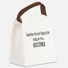 Best Things Are Free...Breastmilk Canvas Lunch Bag