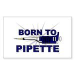 Born to Pipette Rectangle Sticker
