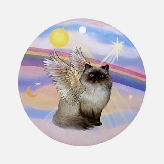Himilayan Cat Angel Ornament (Round)