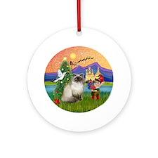 Xmas Fantasy Himilayan Ornament (Round)