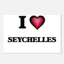 I love Seychelles Postcards (Package of 8)