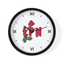 LPN Rose Wall Clock