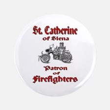 "St. Catherine of Siena - Patr 3.5"" Button"