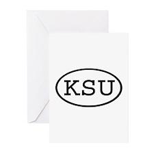 KSU Oval Greeting Cards (Pk of 20)