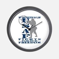 Dghtr-in-Law Fights Freedom - USAF Wall Clock